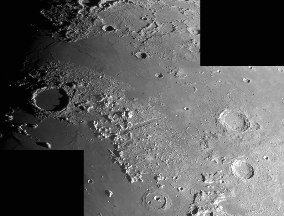 Vallis Alpina and Plato crater photographed in June 6, 2014 by Alberto Germano from Pozzuolo del Friuli (Ud): 153 KB; click on the image to enlarge at 907x690 pixels