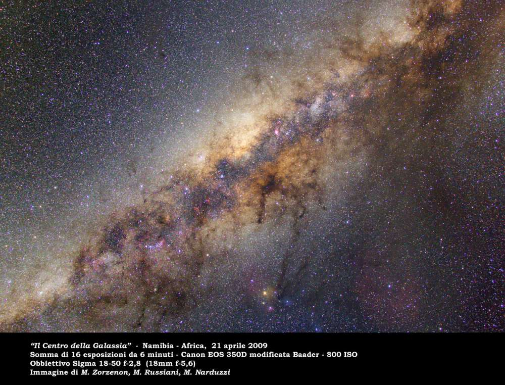 Milky Way photographed from Namibia by Mauro Zorzenon, Marco Russiani and Marco Narduzzi: 127 KB