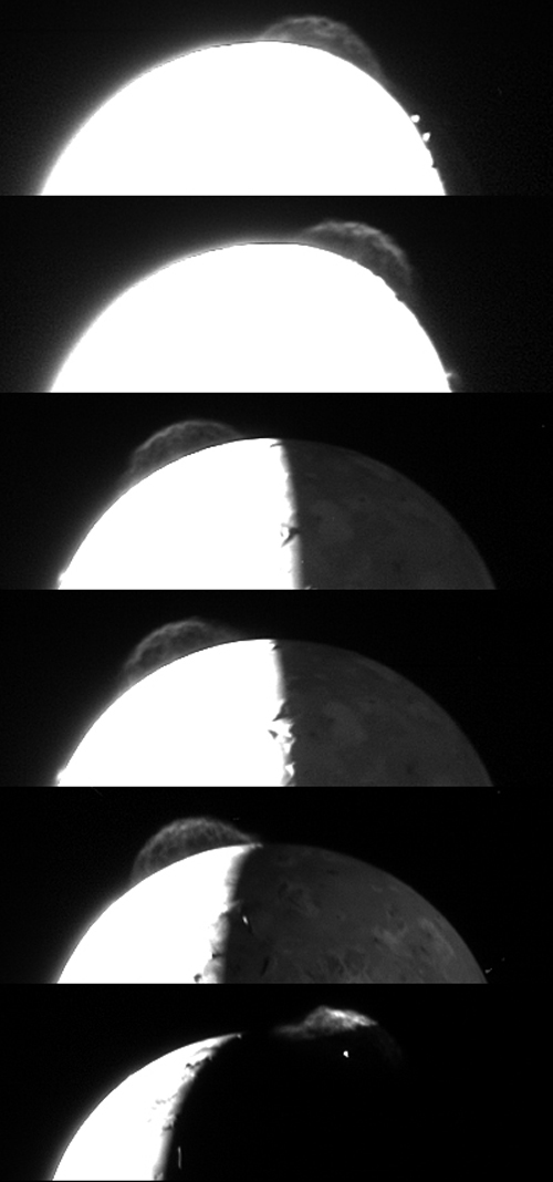 Plumes of Io's volcanos: 183 KB; click on the image to view the original website