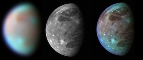Best views of Ganymede, Jupiter's largest moon: 66 KB; click on the image to view the original website