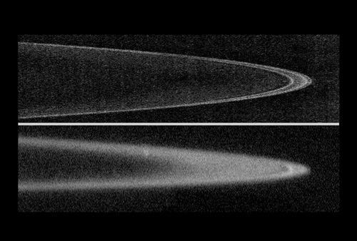 Jupiter's charcoal-black rings: 119 KB; click on the image to view the original website